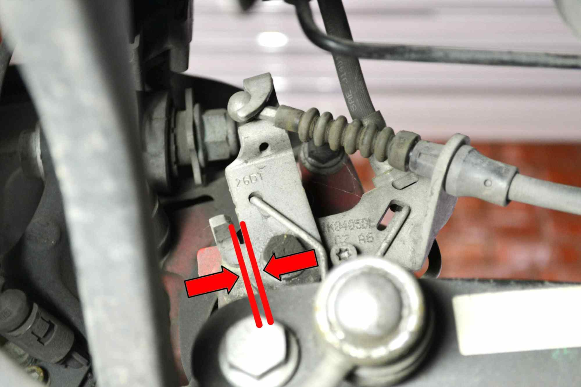 hight resolution of cable adjustment use a 10mm wrench and adjust the compensator until the lever on the