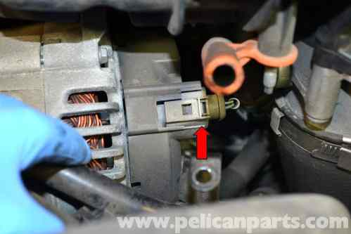small resolution of volkswagen golf gti mk v alternator replacement 2006 2009 how to disconnect alternator wiring harness