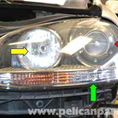 Car Headlight Bulb Diagram Wiring For Contactor Volkswagen Golf Gti Mk V And Assembly