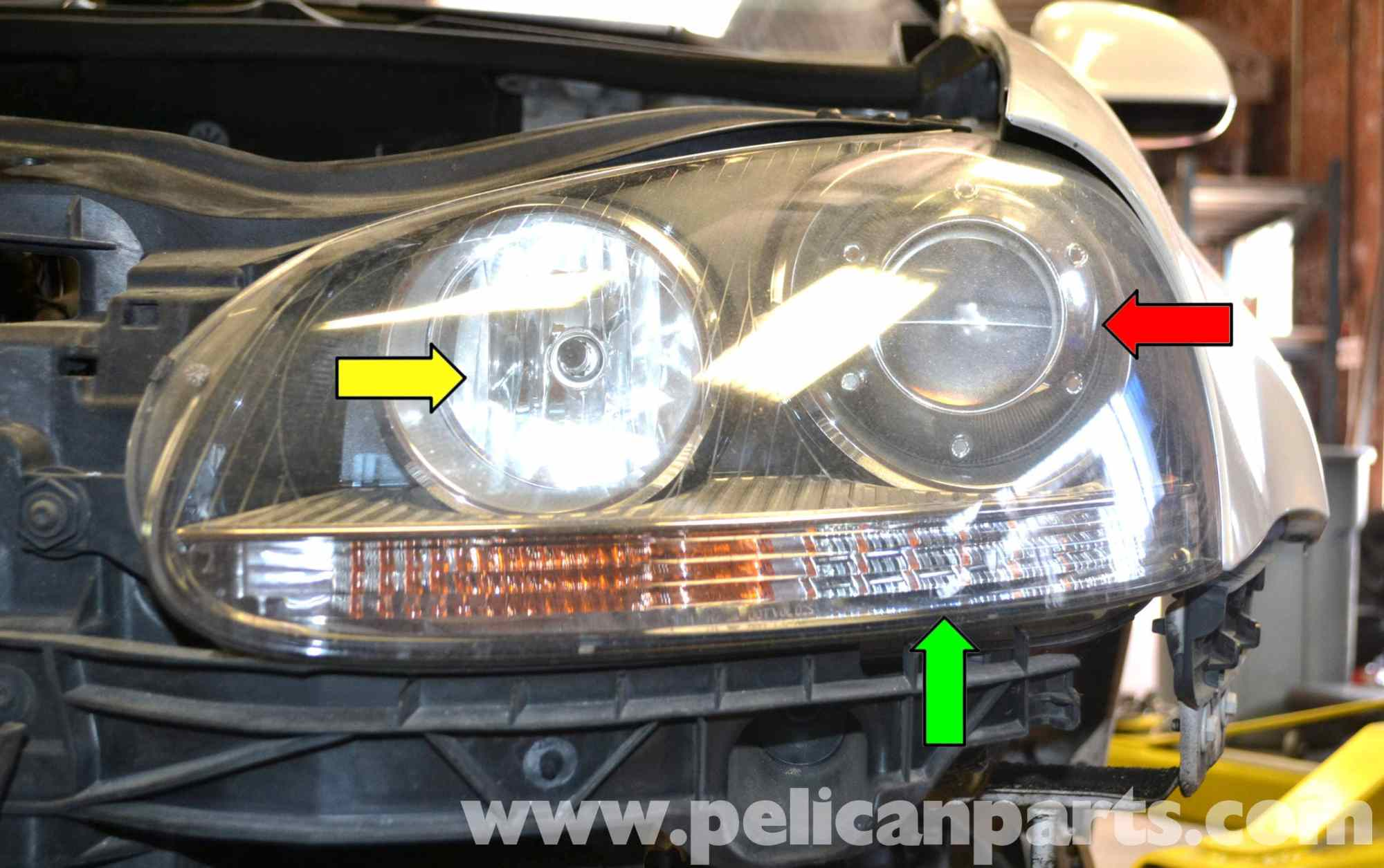 hight resolution of volkswagen golf gti mk v headlight bulb and assembly replacementlarge image extra large image st pelican parts 2006 volkswagen beetle wiring diagram