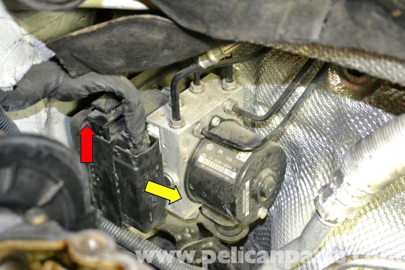 vw golf mk5 abs wiring diagram kia rio 2003 radio volkswagen gti mk v control module replacement (2006-2009) - pelican parts diy ...