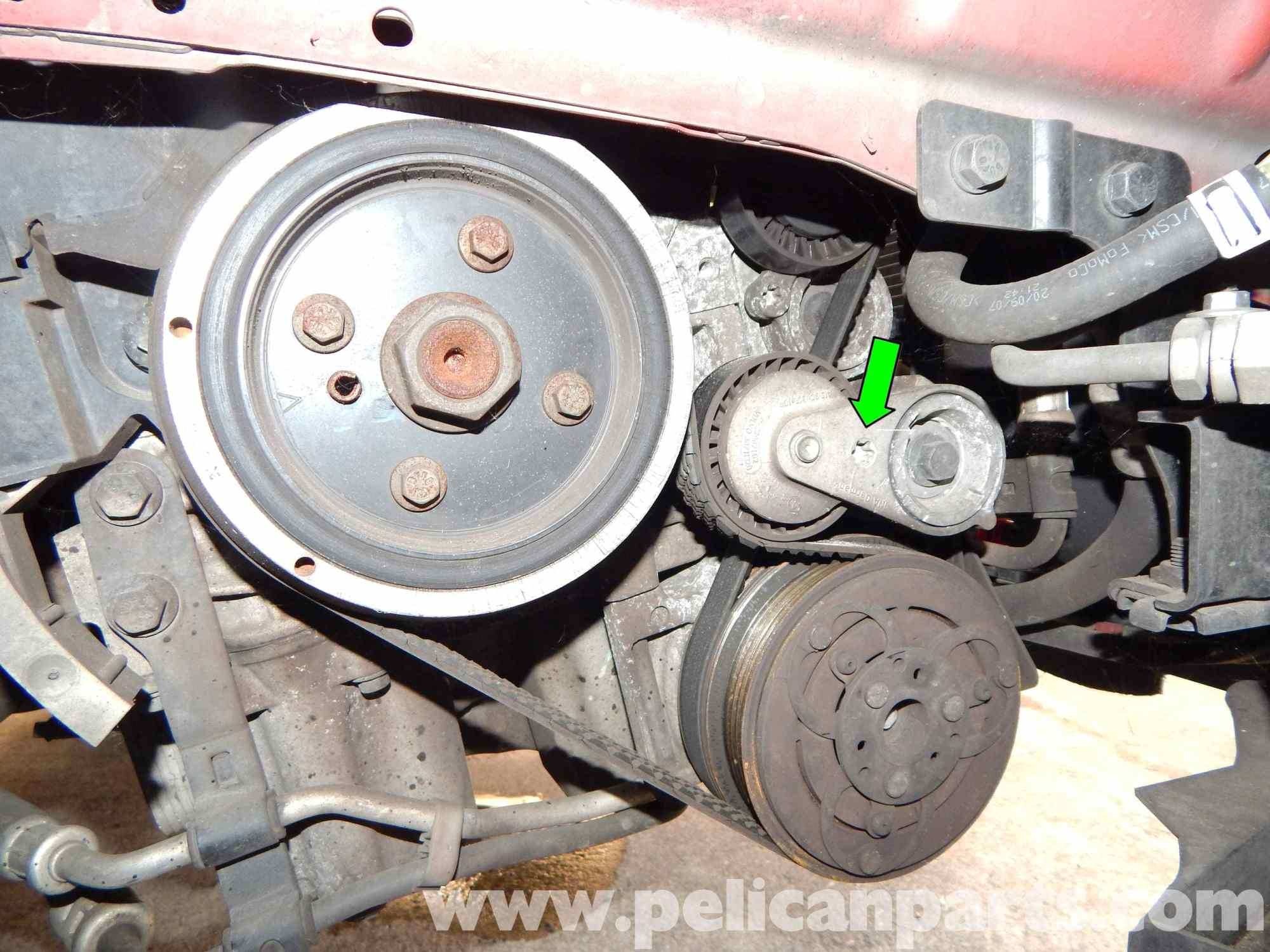 hight resolution of volvo c30 belt and tensioner replacement 2007 2013 pelican parts volvo c30 serpentine belt replacement volvo c30 drive belt diagram