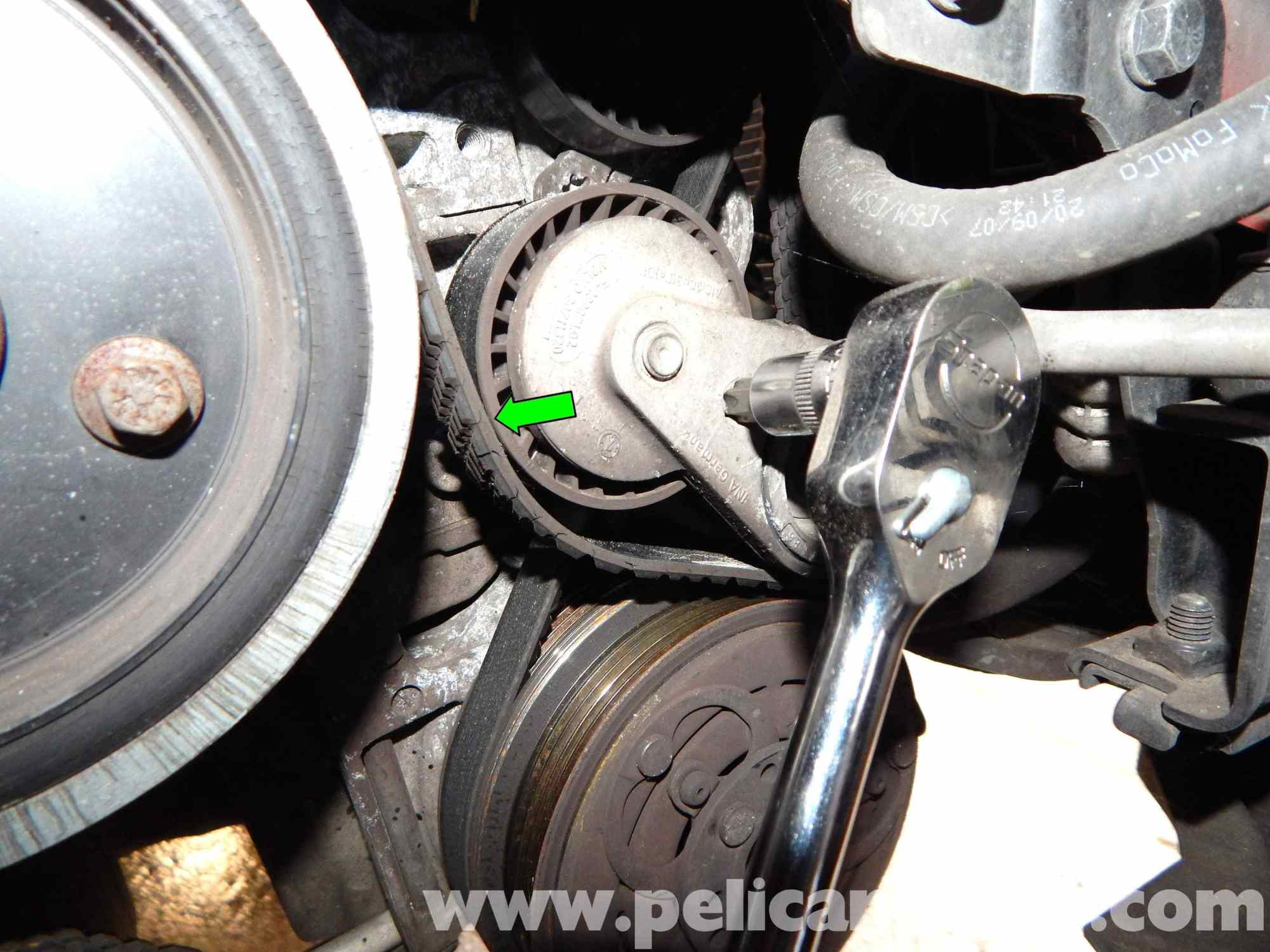 hight resolution of volvo c30 belt and tensioner replacement 2007 2013 pelican parts volvo c30 drive belt diagram