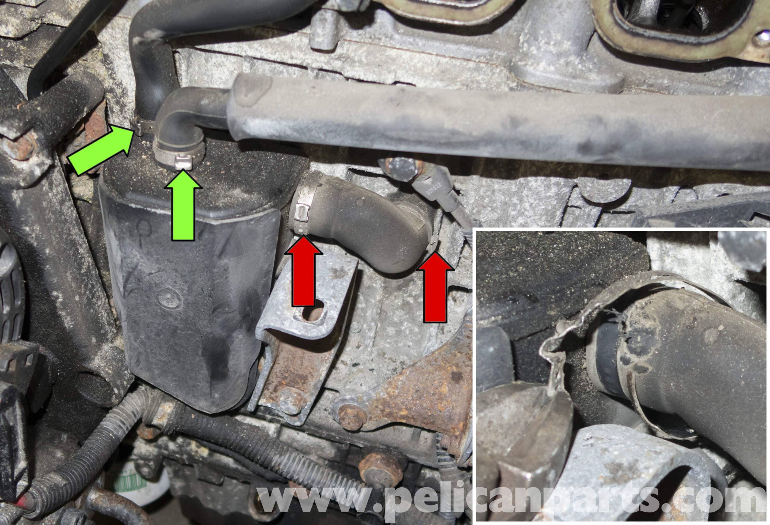 1998 volvo v70 engine diagram bypass relay wiring crankcase breather replacement (1998-2007) - pelican parts diy maintenance article