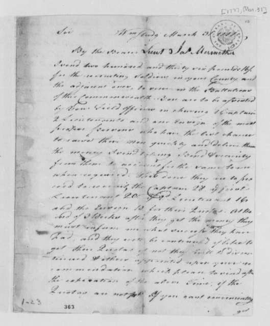 Thomas Jefferson, October 20, 1777, Notes on Virginia