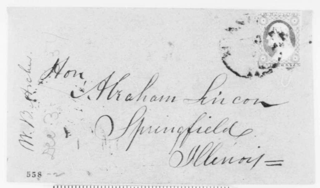 William B. Archer to Abraham Lincoln, Sunday, December 03
