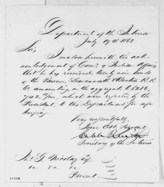 Caleb B. Smith, Friday, March 29, 1861 (Notes from cabinet