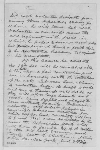 Timothy O. Howe to Edwin M. Stanton, Wednesday, March 25