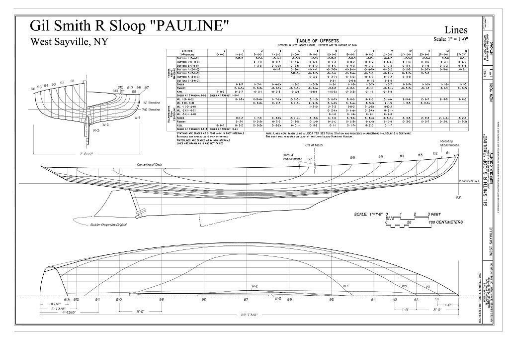 Gil Smith R Sloop PAULINE, Long Island Maritime Museum