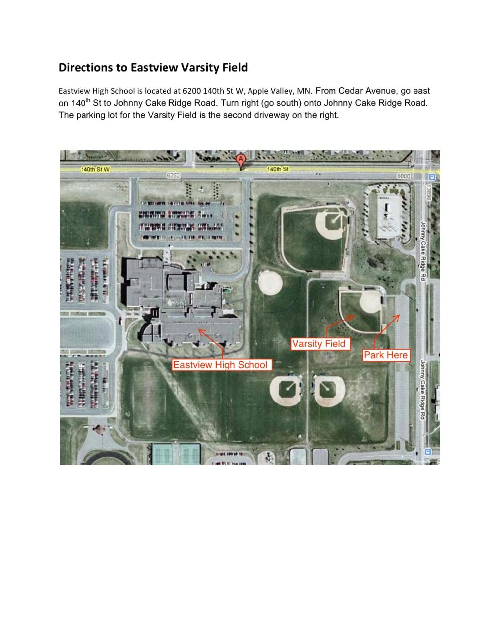 medium resolution of map to eastview varsity field