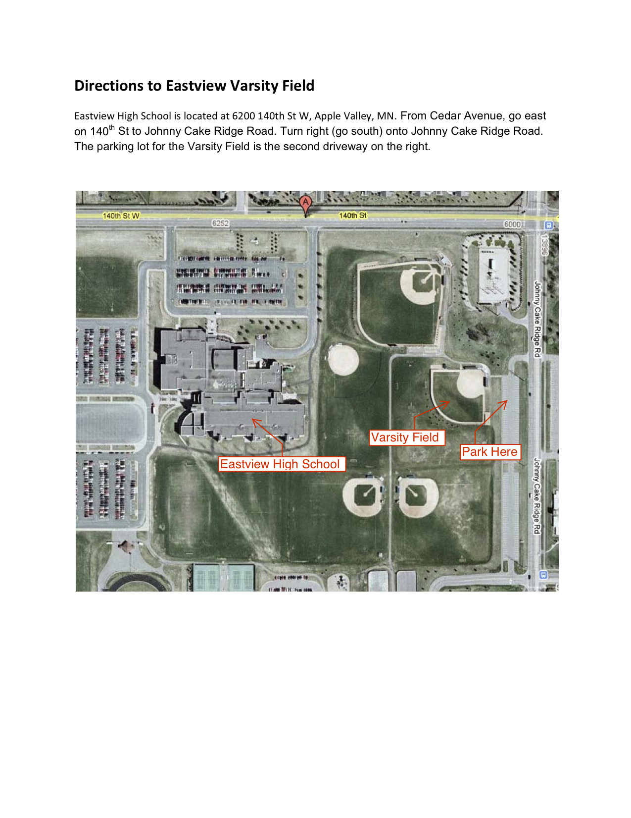 hight resolution of map to eastview varsity field