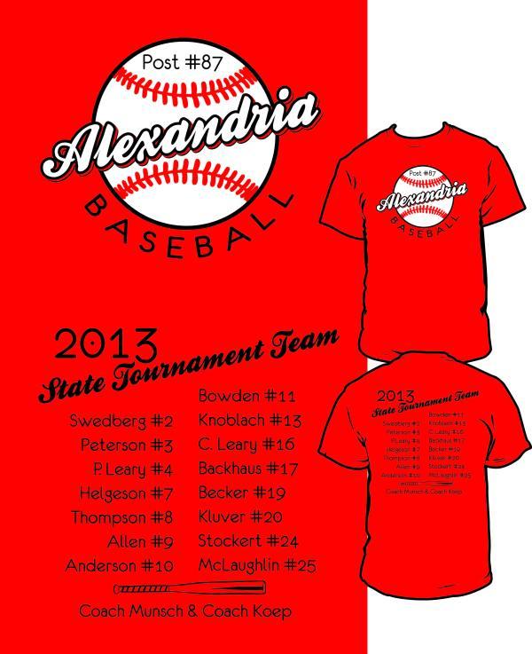 Baseball Tournament T-Shirt Designs