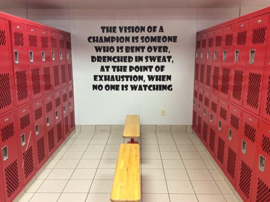 Locker Room Decorating For Football High Schools  Decoratingspecialcom-7877