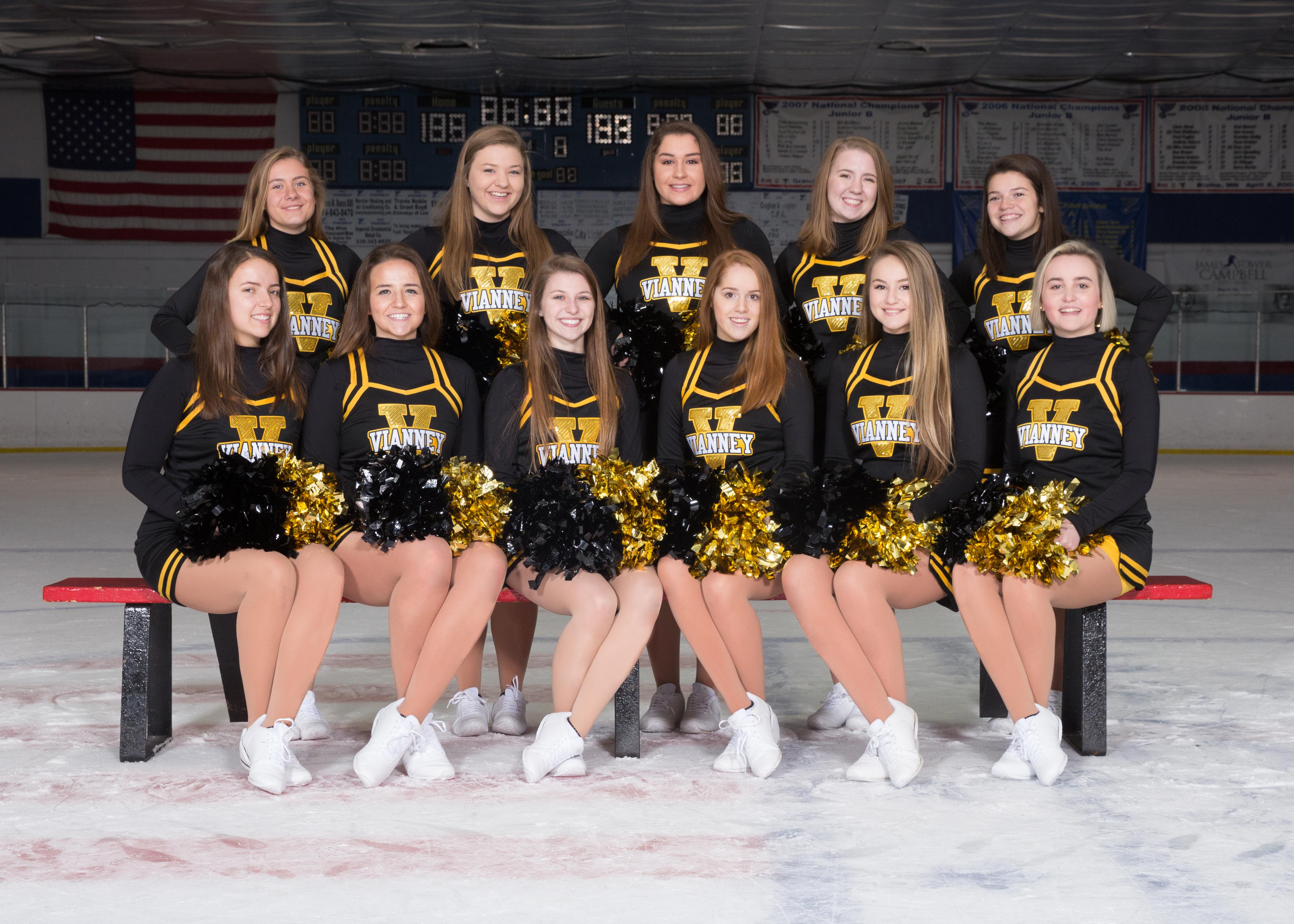 Duchesne High School Ice Hockey Vianney Hockey Cheerleaders