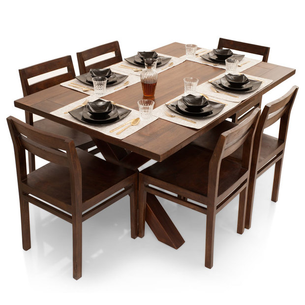 kitchen table sets small clovis barcelona 6 seater dining set thearmchair frtbdt11wn10016 1
