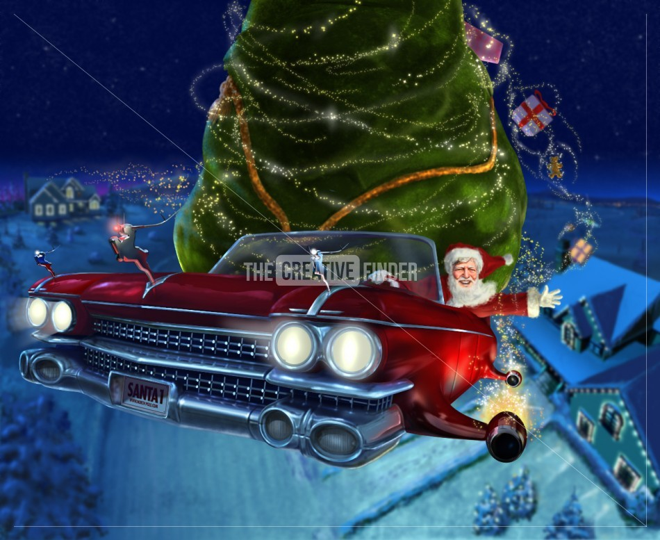 Cadillac Santa By Gary Cooper Illustration From United