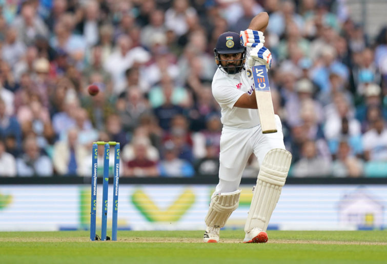 India's Rohit Sharma bats during day three