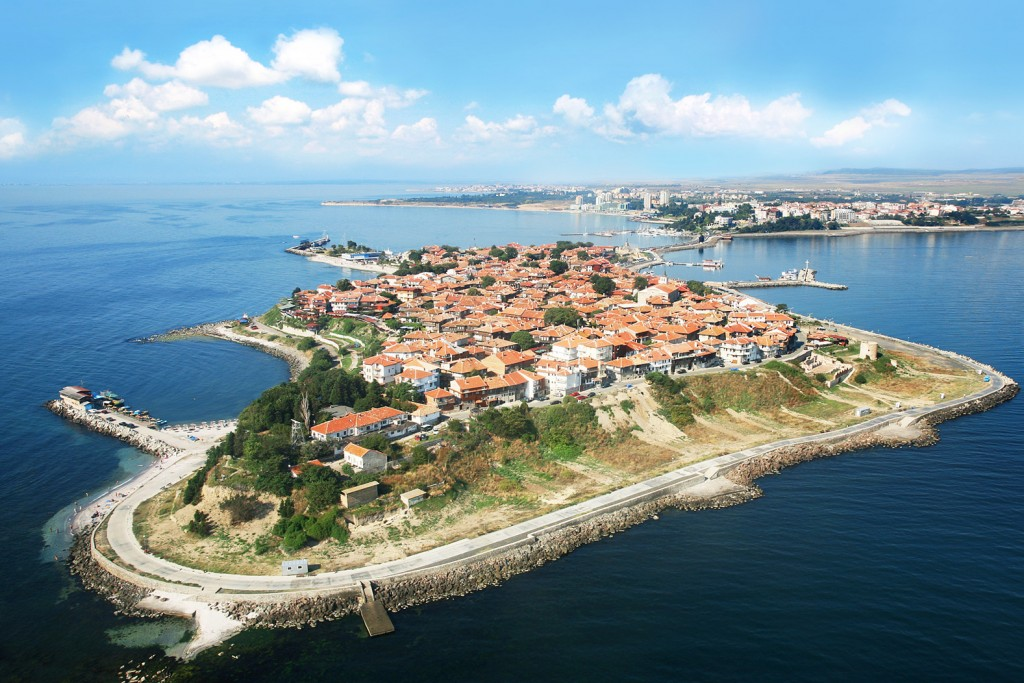 Nesebar bulgaria bird's eye view