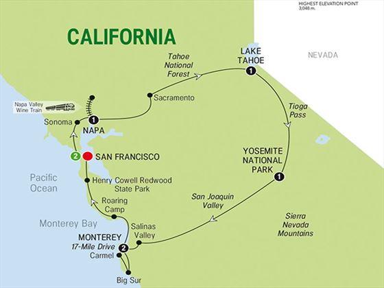 Northern California 7 Night Escorted Tour  American Sky