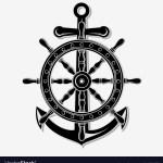 Ship Wheel And Anchor Royalty Free Vector Image