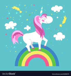 fairy unicorn with rainbow royalty free vector image half rainbow clip art clip art picture of [ 1000 x 1080 Pixel ]