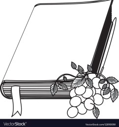 monochrome contour with holy bible with ribbon and vector image jpg 989x1080 bible clipart ribbon [ 989 x 1080 Pixel ]