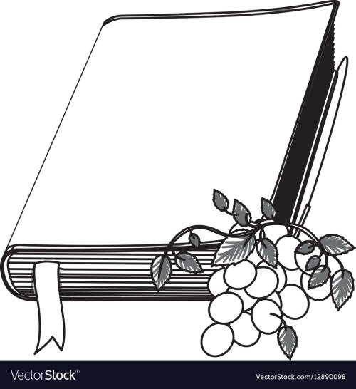 small resolution of monochrome contour with holy bible with ribbon and vector image jpg 989x1080 bible clipart ribbon