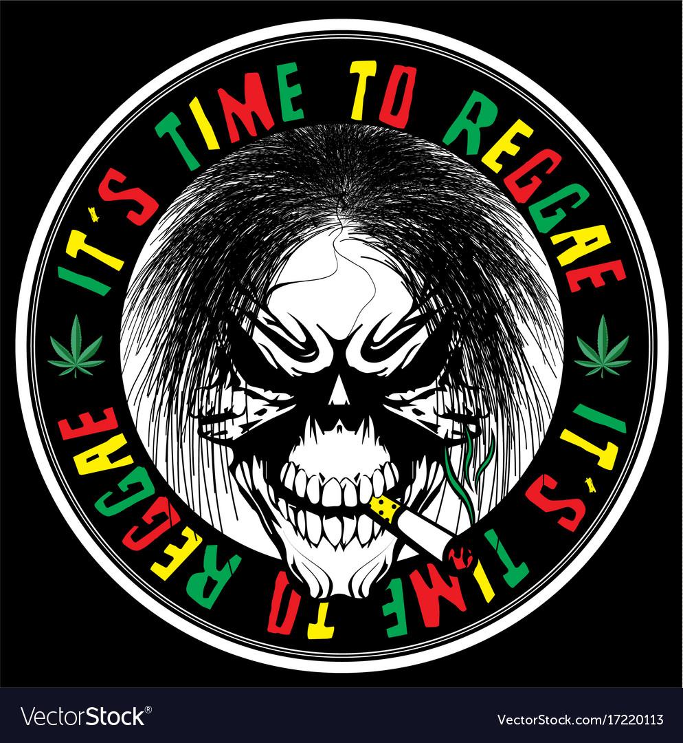 skull reggae tee graphic
