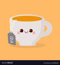 Cute cartoon cup Royalty Free Vector Image