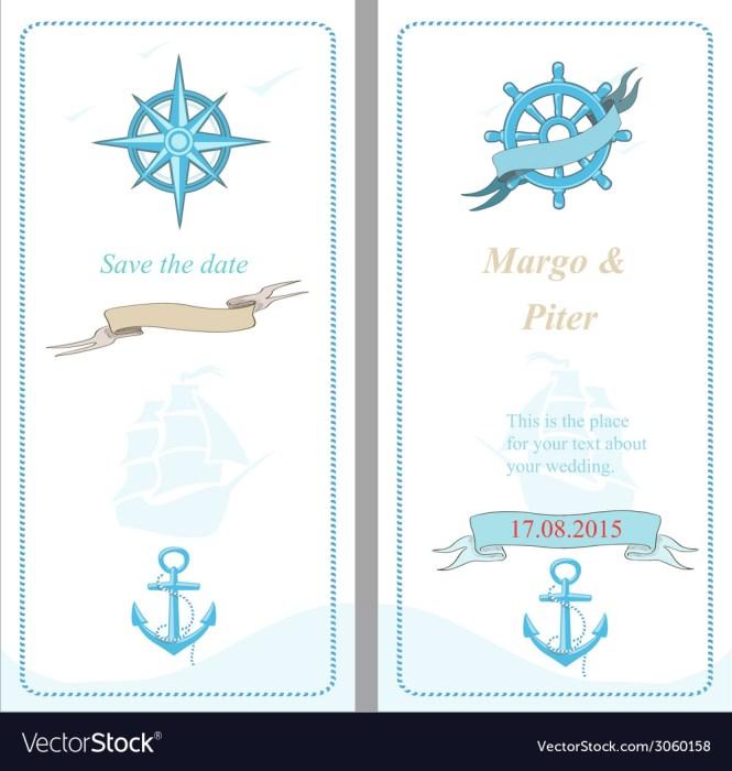 Wedding Invitation Template Nautical Style