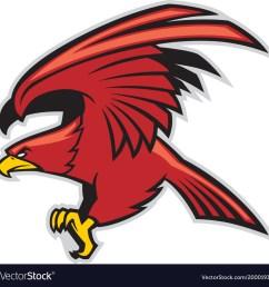 eagle mascot vector image [ 1000 x 1001 Pixel ]