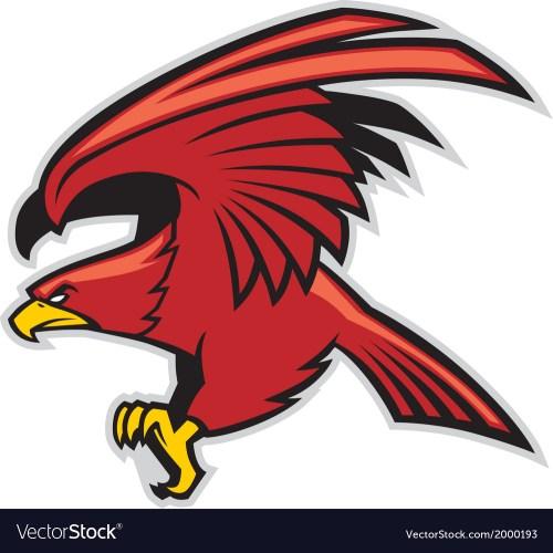 small resolution of eagle mascot vector image