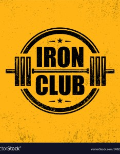 also iron club fitness sport gym workout barbell vector image rh vectorstock