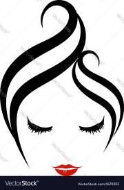 hair salon logo royalty free vector