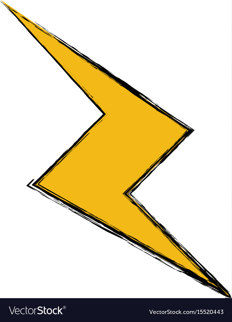 How To Draw A Thunderbolt : thunderbolt, Drawing, Thunderbolt, Power, Climate, Image, Royalty, Vector