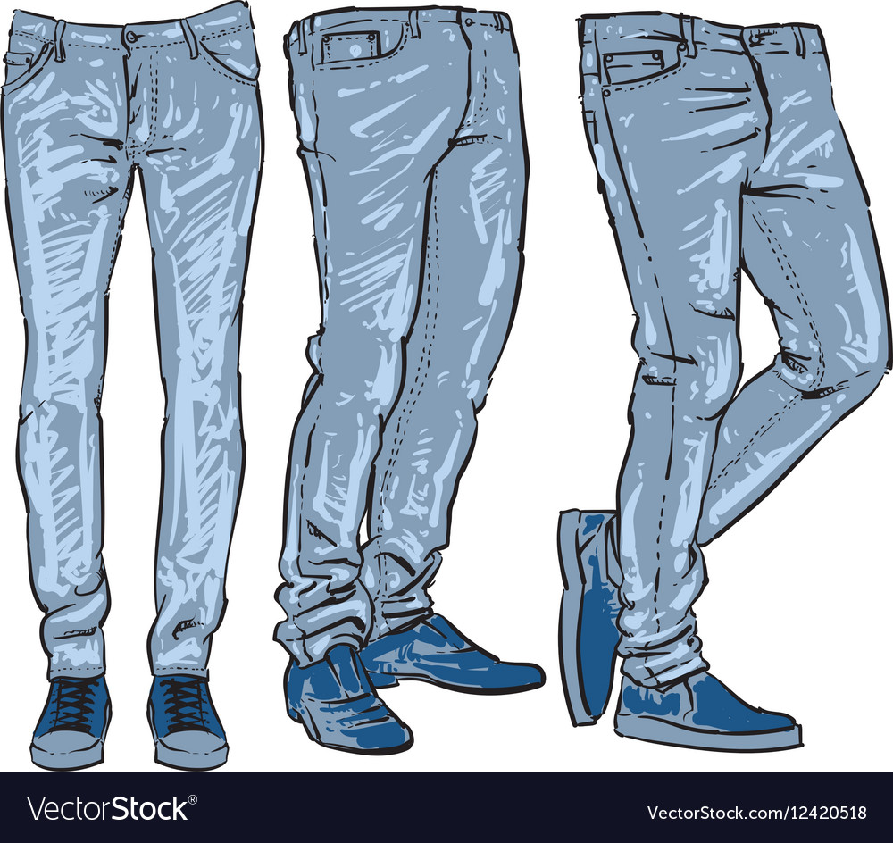 blue jeans set denim