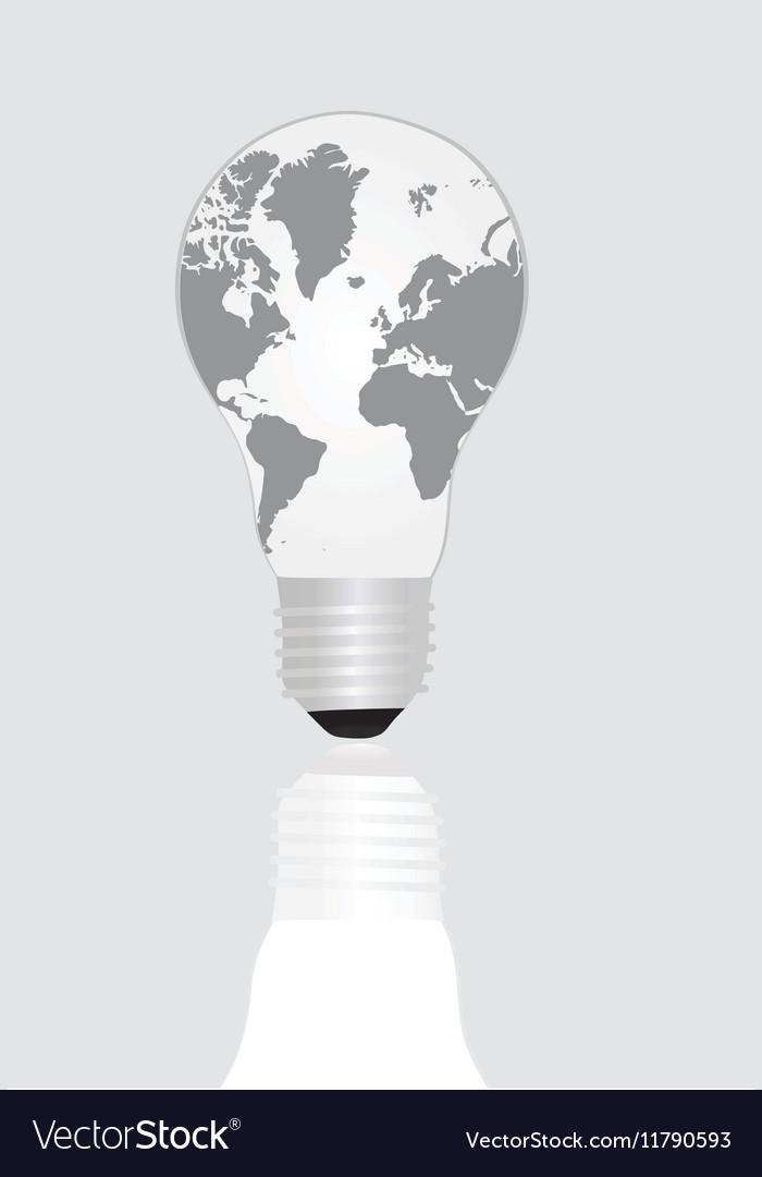world map inside light