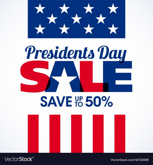 Presidents day sale banner Royalty Free Vector Image