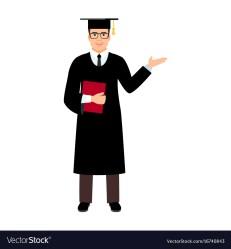 graduate student university vector male royalty vectors