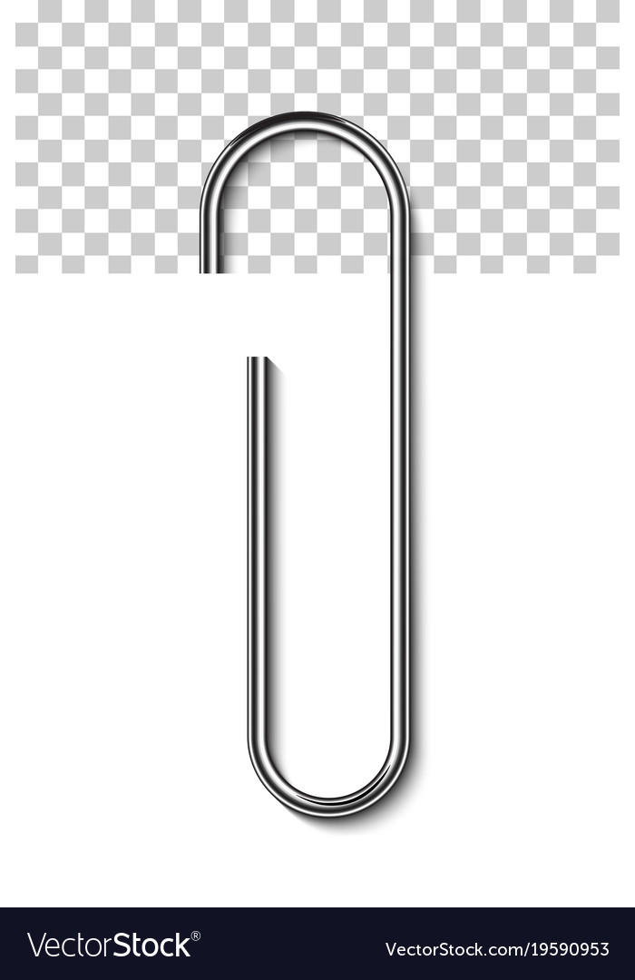 metal paperclip attached to