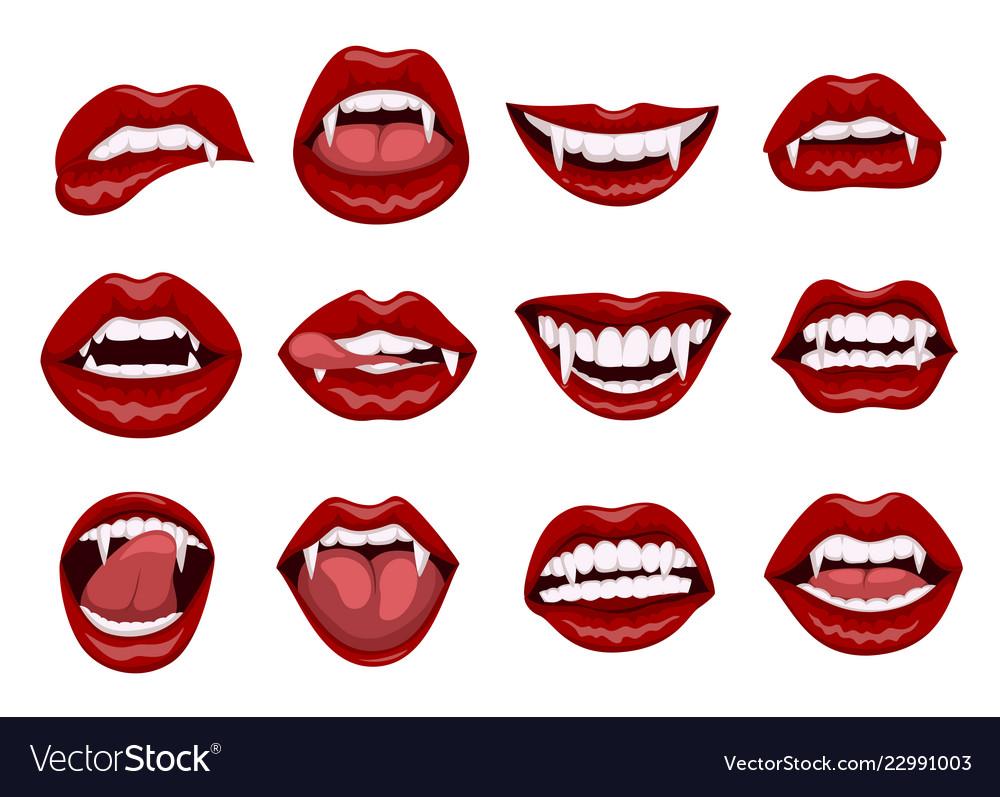 female red vampire lips