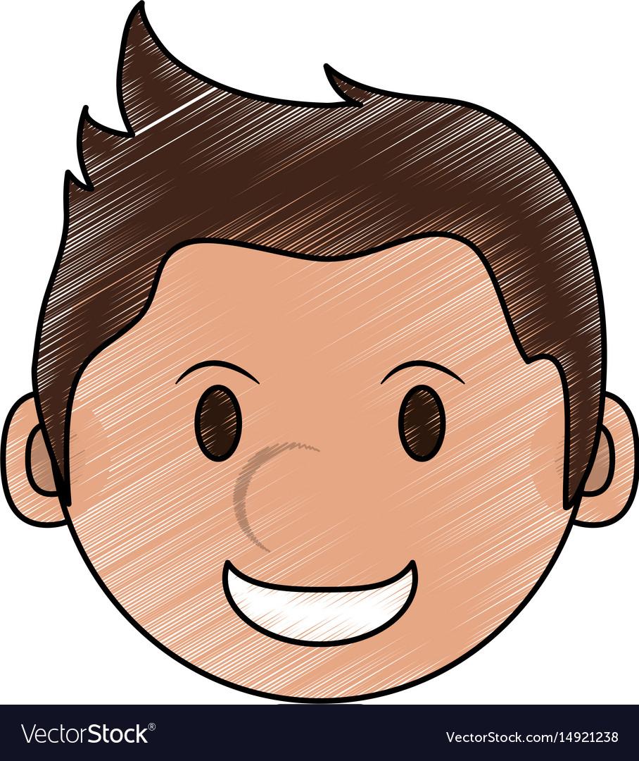 color pencil cartoon face