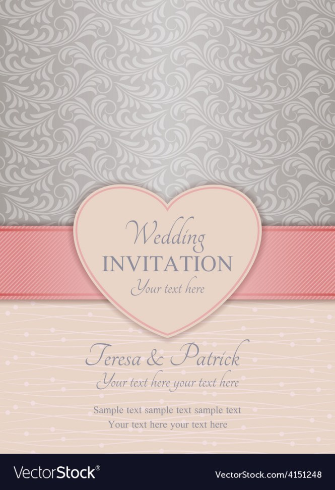 Modern Wedding Invitation Pink And