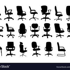 Office Chair Vector The Fic Chairs Silhouettes Royalty Free Image