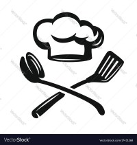 Chef hat with kitchen utensils Royalty Free Vector Image