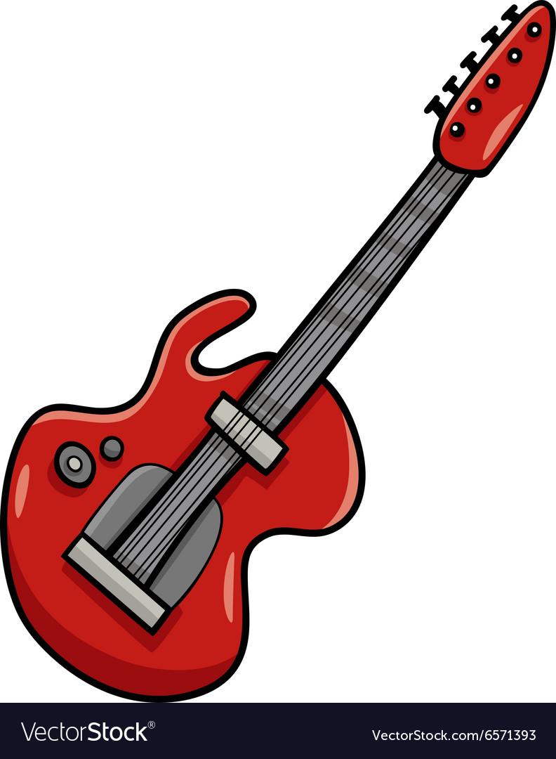 Guitar Images Clip Art : guitar, images, Electric, Guitar, Cartoon, Royalty, Vector, Image