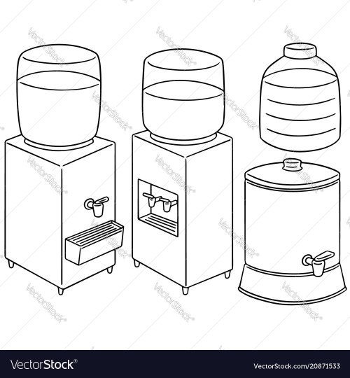 small resolution of set of water cooler vector image