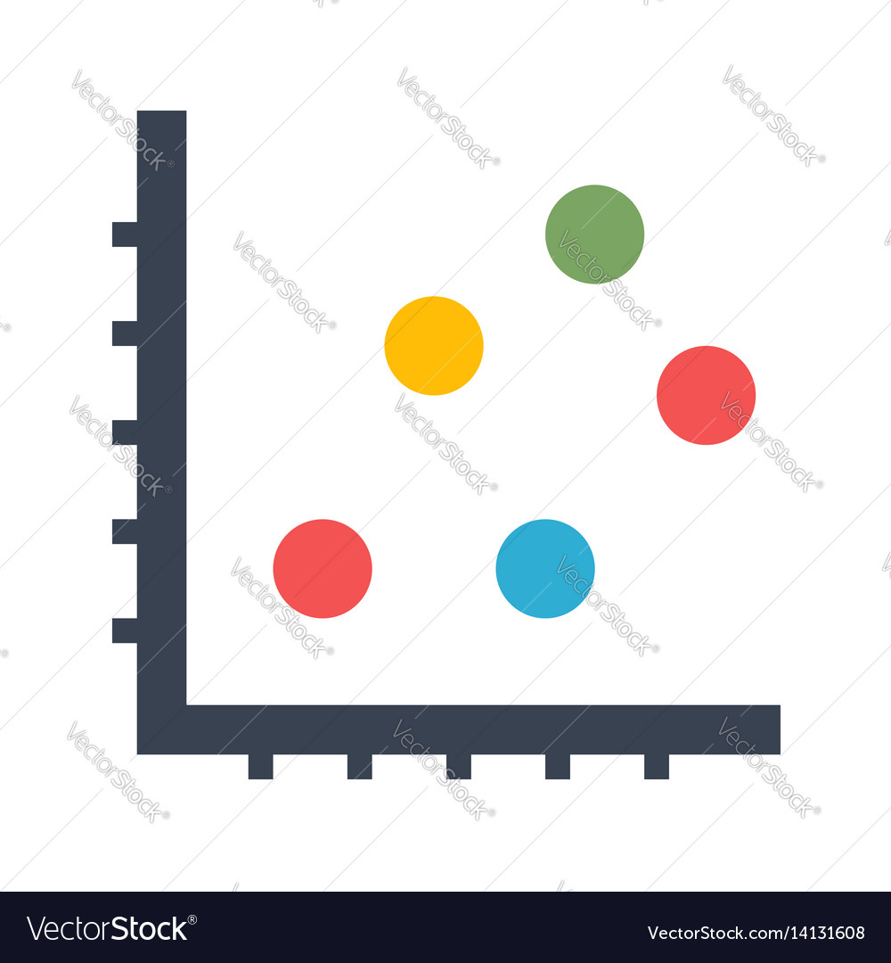 hight resolution of dot chart icon vector image