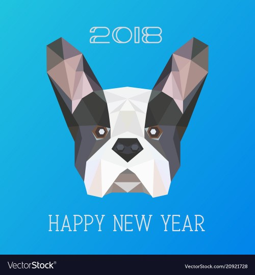 small resolution of polygonal head of french bulldog vector image
