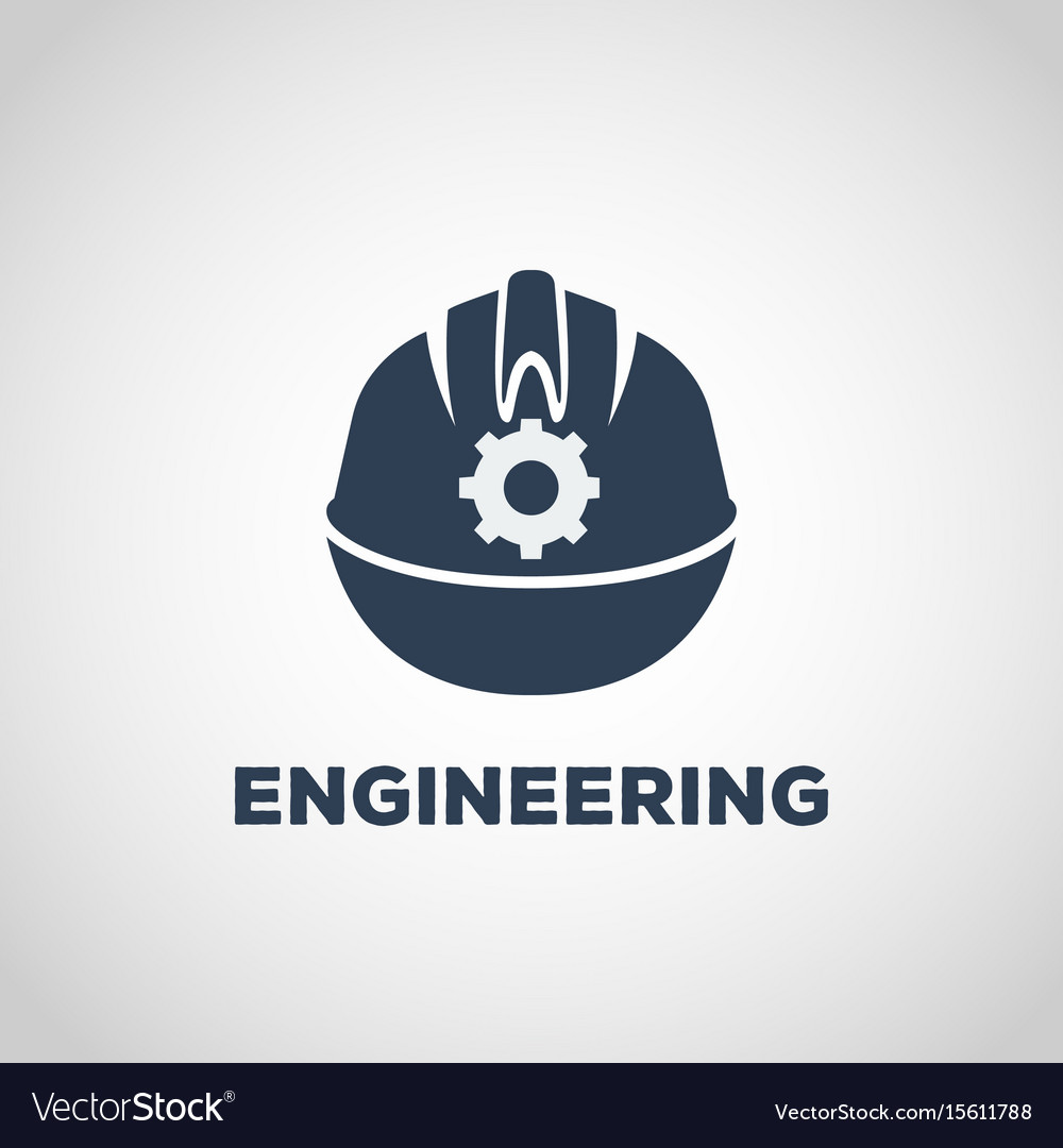 hight resolution of engineering logo icon design vector image